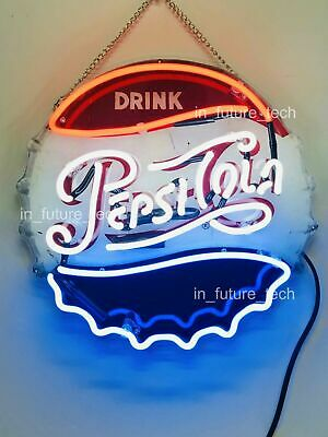 """New Pepsi Drink Neon Sign Lamp Light 12/""""x12/"""" Acrylic Beer Bar With Dimmer"""