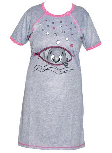 Maternity Women/'s Nightshirt Nursing Nightdress Pregnancy Breastfeeding Nightie