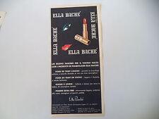 advertising Pubblicità 1962 ELLA BACHE'