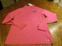 Under Armour Coldgear Protect Yourself Thumb Holes Girls Yxl Fitted Top $45