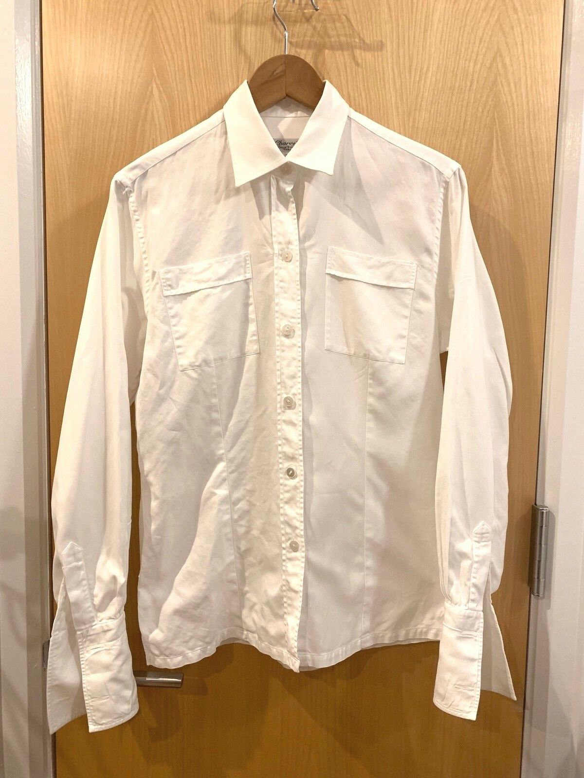 CHARVET DRESS SHIRT WHITE FRENCH CUFF WOMENS