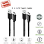 6Ft-2M-Type-C-USB-C-Fast-Charger-Data-Sync-Cable-Cord-OEM-Samsung-Android-HTC-LG miniature 8