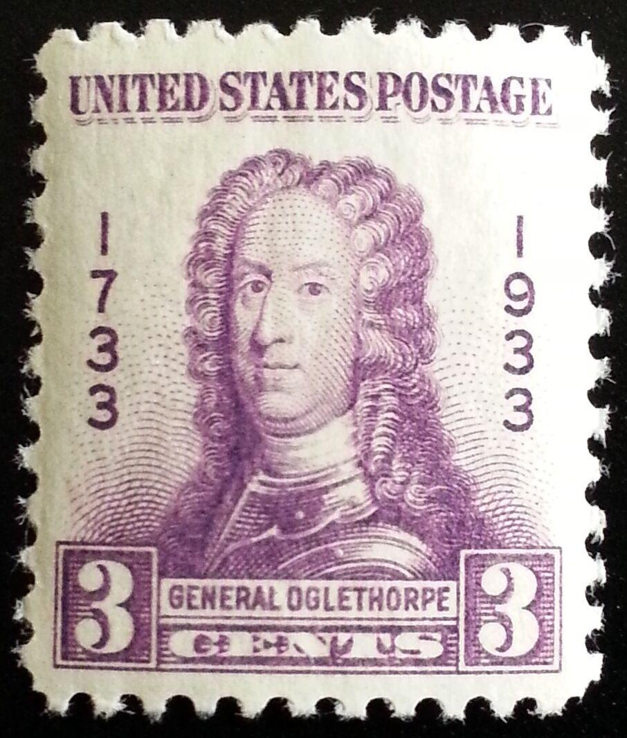 1933 3c Georgia Bicentennial, James E. Oglethorpe Scott