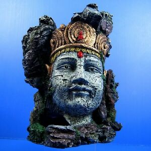 Buddha-Statue-Cave-7-8-x5-5-x9-8-Aquarium-Ornament-Decor-Goddess-of-Mercy-rock