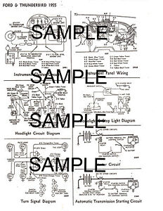 1956 ford 56 & 1956 thunderbird 56 ford motors wiring ... 56 ford fairlane wiring diagram #8