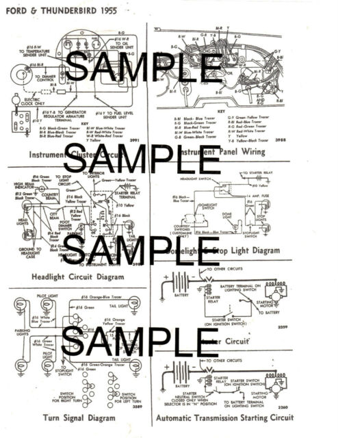1958 FORD 58 FORD MOTOR COMPANY WIRING GUIDE DIAGRAM CHART ...