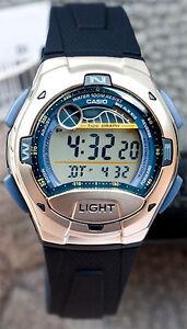 Casio-W-753-2AV-Moon-Tide-Graph-Watch-10-Year-Battery-4-Alarms-100M-WR-Brand-New