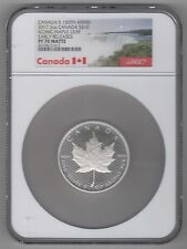 CANADA'S 150th ANNIV. 2017 2oz $10 MAPLE LEAF EARLY RELEASES NGC PF70 MATTE