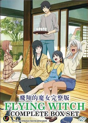 Anime DVD Flying Witch (1-12 End) Good English Sub All Region FREE SHIPPING