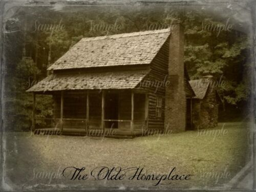 Primitive Log Cabin Smoky Mountains Cades Cove Old Homestead Print 8x10