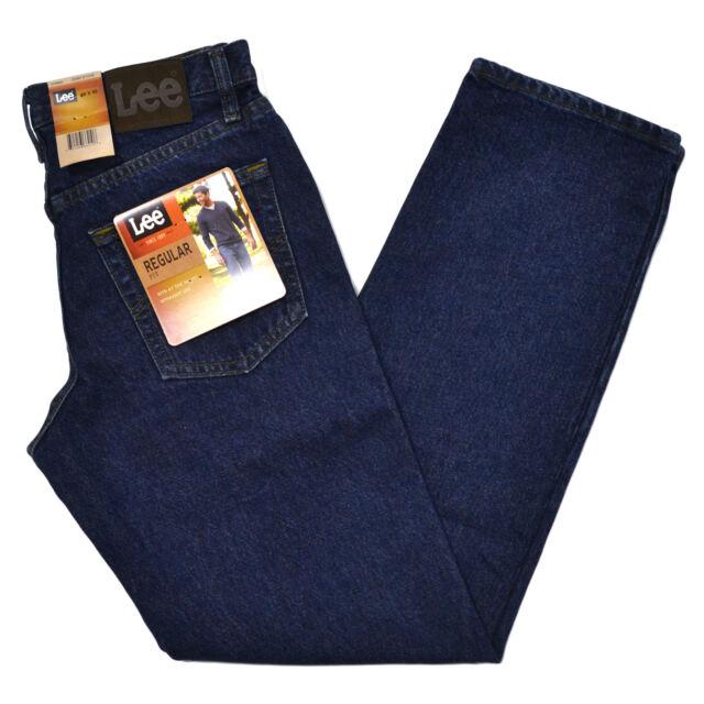 Lee Mens Jeans Dark Stone Regular Fit Straight Leg Men Classic Fit Stonewash