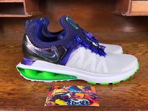 Nike Shox Gravity Womens Running Shoes White Violet Green AQ8554 105 ... 97239f82e