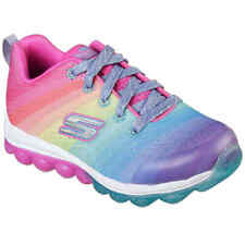 2697 SEE LISTING SIZE GIRLS SKECHERS SPORT GRAY//PINK MEMORY FOAM GEL-INFUSED