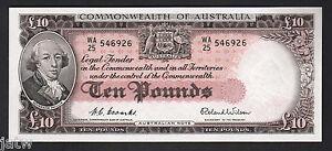 Australia-R-62-1954-Ten-Pounds-Coombs-Wilson-Commonwealth-Bank-gEF-aUNC