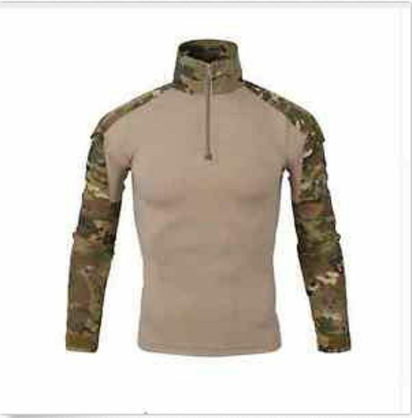 Mens Long Tee Shirt Camouflage Army Military Paintball Hunting Survival Camping