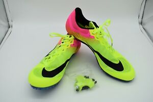 f3c0c25bd83e Nike Zoom JA Fly 2 Men s Track Spikes 705373-999 Volt Pink Size 12 ...