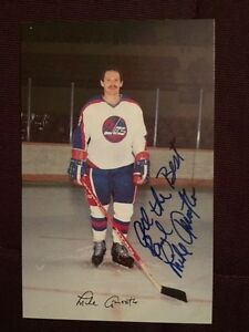 save off 55ff2 a3d22 Details about Mike Amodeo Winnipeg Jets Autographed Signed Team Issued  Postcard