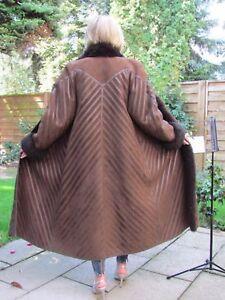 WOMENS-XL-2XL-Shearling-Lambskin-Sheepskin-Skin-Fur-Coat-Jacket-Ladies-D3941