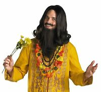 Love Guru 60s Hippie Wig Moustache And Beard Pirate Adult Costume Accessory