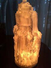 Large Selenite Lamp W/Cord Gem Specimen Selenite Tower Crystal Lamp Night Light