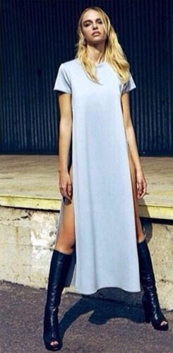 Vestito Maxi Camicia Donna Woman Casual Shirt Dress A110026