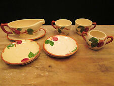 Franciscan APPLE Pattern AS IS LOT Saucers (4) Cups (2)  Gravy (1) Sugar (1)