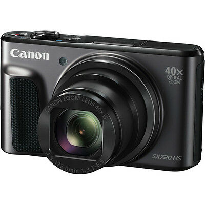 Canon Powershot SX720 HS 20.0MP 40x Zoom Digital Camera Black