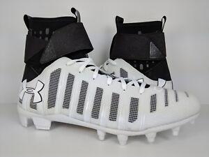 4d0f7757d21 Under Armour UA C1N MC Football Cleat White Black Cam Newton ...