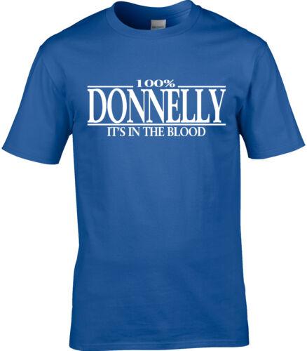 Donnelly Nom T-shirt homme 100/% Donnelly Cadeau Nom Famille