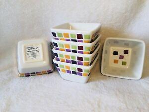 Pampered-Chef-Simple-Additions-Mosaic-Tile-Bowl-Set-Of-Six-Soup-Salad-Dessert