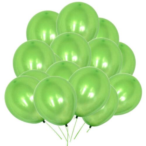 "100 HELIUM mettalic balon Latex Balloons 10/"" Wedding Birthday Party CHRISTENING"