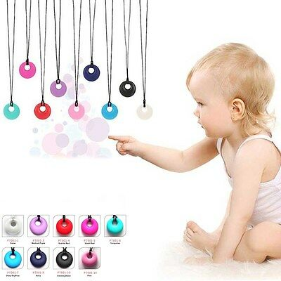 Teething Nursing Silicone Breastfeeding Necklace Soft Bead Baby Chew Jewelry