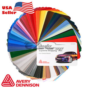 Newest Avery Dennison Supreme Sample Swatch Deck Book Wrap