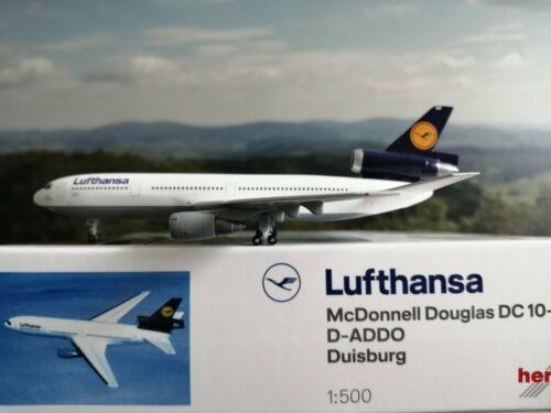 "Herpa Wings 1:500 531696 Lufthansa DC-10-30 D-ADDO /""Duisburg/"" flugzeugmodell"