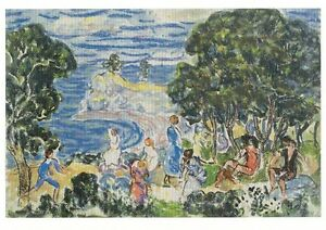 Postcard Maurice B Prendergast The Bay Currier Museum of Art New ...