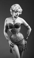 Framed Print - Burlesque Dancer (Picture Poster Show Girl Pin Up Musical Art)