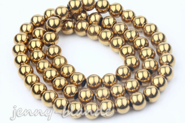 Metallic Luster Gold Czech Glass Loose Spacer Bead Charm Jewelry Finding 6-10MM
