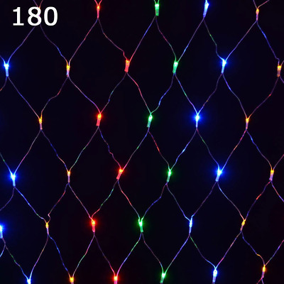 Super Bright 180 LED Multicoloured Christmas Net Lights 8 Mode Indoor Outdoor