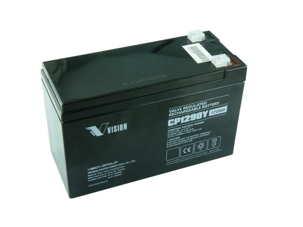 Authentic Vision CP1290Y 12V 9ah F2/T2 Terminal SLA Battery CP1290