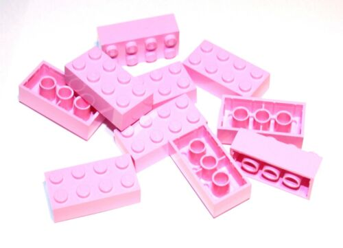 10x LEGO® Stein 2x4 3001 NEU Hell Rosa Bright Pink Friends