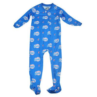 Humorvoll Nba Unk Los Angeles Clippers Kleinkind Fuß Schlafanzug Bodysuit Reißverschluss üPpiges Design Baseball & Softball Fanartikel