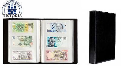 Leuchtturm Nr. 345089 Banknotenalbum Mit 100 Klarsichthüllen Für 300 Banknoten