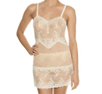 Wacoal Embrace Lace Lurex Chemise Slip Nightie Ivory Small