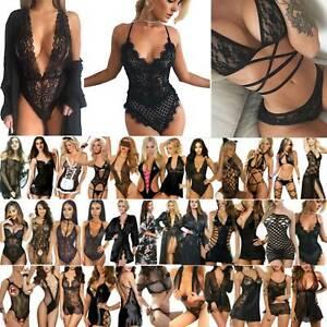 Frauen Damen Spitze Dessous Reizwäsche Nachtwäsche Nachthemd Sexy Erotik Pyjama'