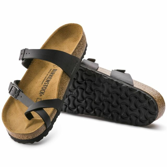 Authentic Birkenstock Classic Black Mayari - contoured footbed, Regular Width