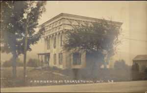 Georgetown-NY-Residence-Beautiful-Architecture-c1910-Real-Photo-Postcard