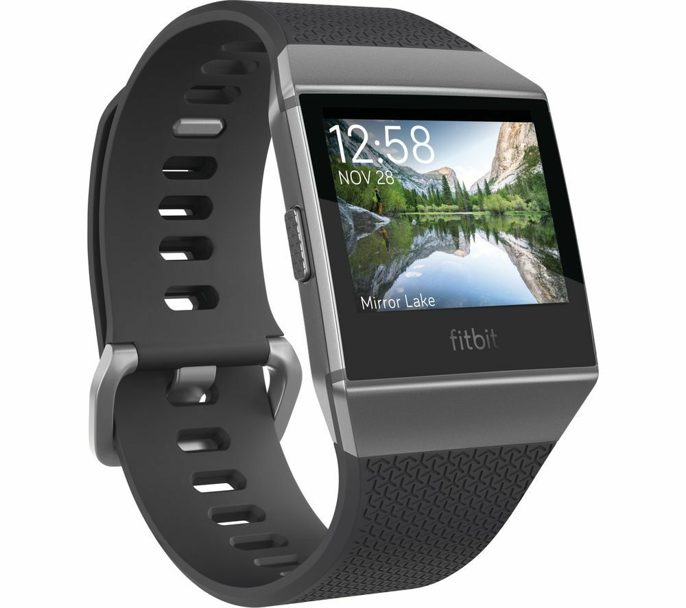 FITBIT Ionic - Charcoal & Smoke Grey - Currys