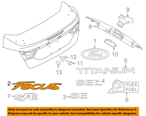 FORD OEM 15-18 Focus Trunk Lid-Emblem Badge Nameplate F1EZ5842528A