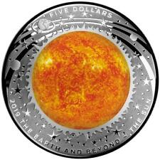 Australien 5 Dollar 2019 Die Sonne Gewölbt Earth and Beyond (3.) 1 Oz Silber PP