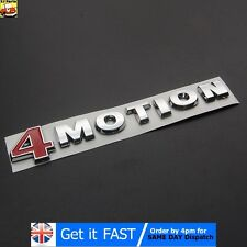 4Motion For VW Badge Emblem Logo Chrome ABS Sticker Passat Touareg Golf Polo